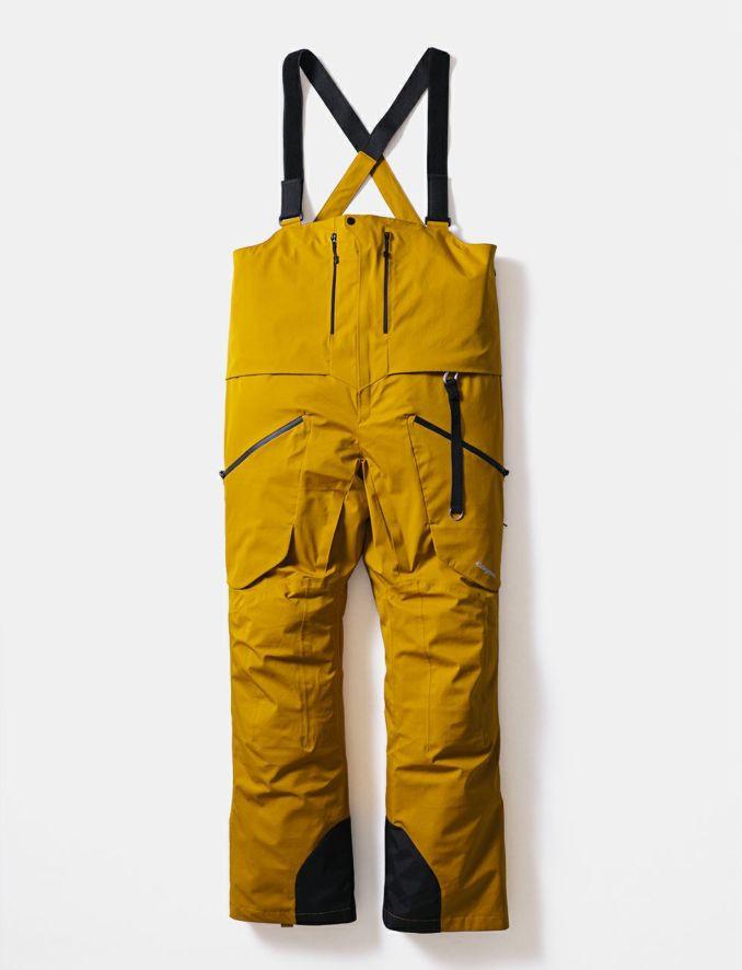 2020-21モデル Hang Pants スノーボードウェア ハングパンツ ビブパンツ マスタード