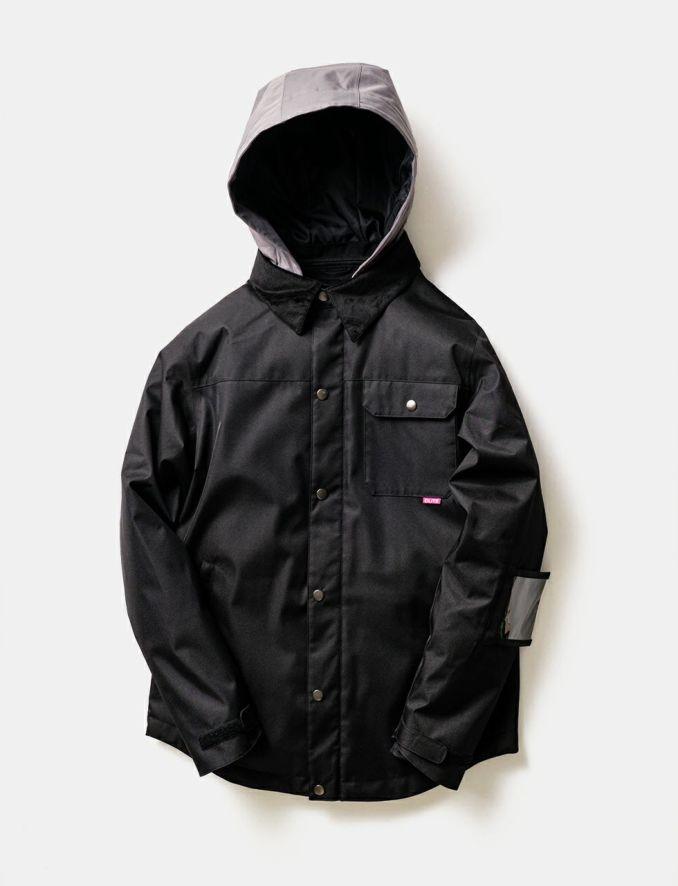 2020-21モデル レディース スノーボードウェア BLACK Material Collar Jacket
