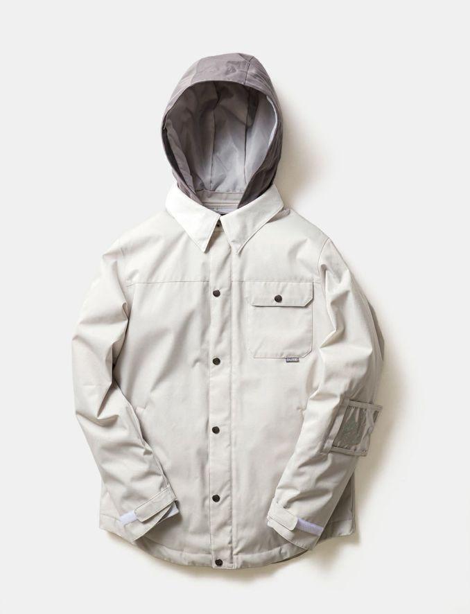 2020-21モデル レディース スノーボードウェア WHITE Material Collar Jacket