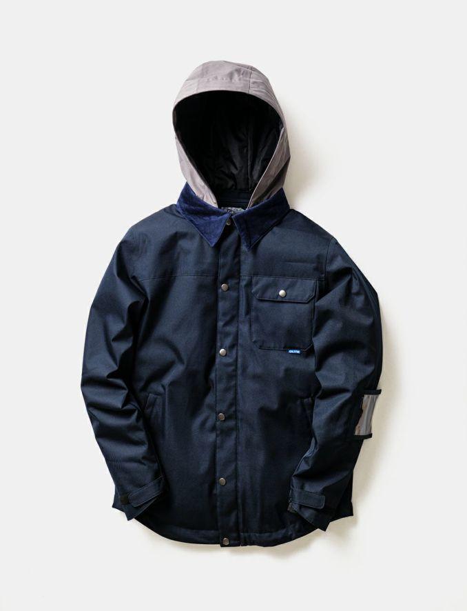 2020-21モデル レディース スノーボードウェア DEEP NAVY Material Collar Jacket