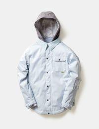 2020-21モデル レディース スノーボードウェア POWDER BLUE Material Collar Jacket