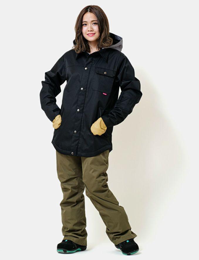 2020-21モデル レディース スノーボードウェア Material Collar Jacket