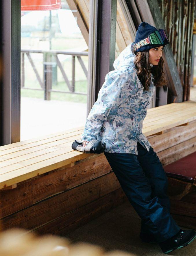 2020-21モデル レディース スノーボードウェア Long Tail Print Jacket