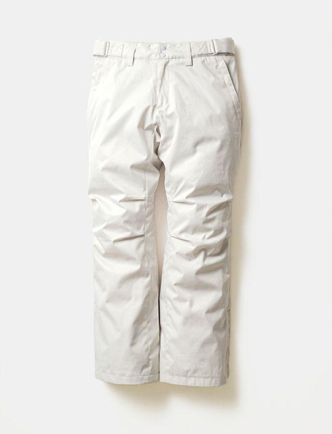 2020-21モデル レディース スノーボードウェア Solid Straight Pants White