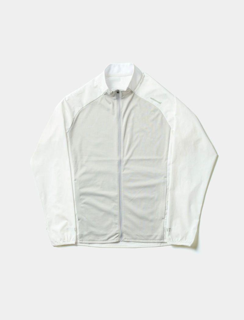 クールフィーリーングモックネックジャケット ホワイト