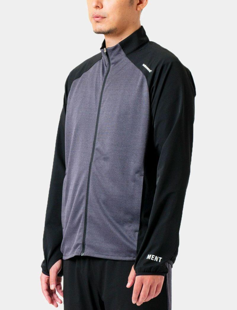 クールフィーリーングモックネックジャケット ブラック